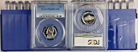 1975-S 5C DC (Proof) Jefferson Nickel (LOT OF 20) all certified PCGS PR69DCAM
