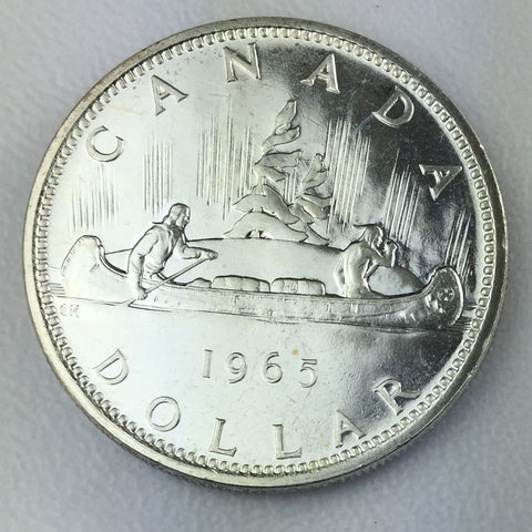1965 $1 Canada Silver Dollar Canadian Proof Like Brilliant UNC Uncirculated