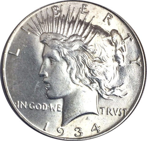 1934 $1 Peace Silver Dollar - Final Year and Better Date Liberty Coin 1115-254UZ
