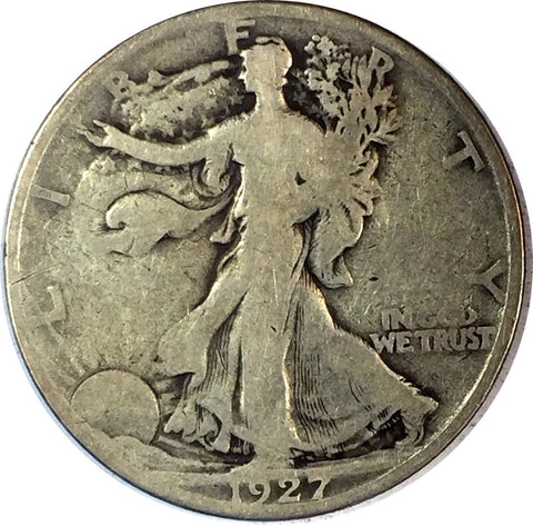 1927-S 50C Walking Liberty Silver Half Dollar - Key Date WLH Coin 729-89O