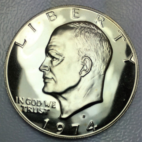 1974 Proof $1 Eisenhower Clad Coin - San Francisco Presentation IKE Dollar