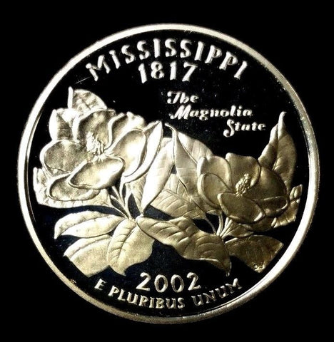 2002-S 25C Mississippi Silver DC (Proof) 50 States Quarter