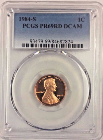 1984-S 1C DC (Proof) Lincoln Cent PCGS PR69RD DCAM