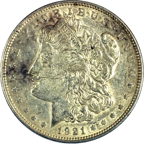 1921-D $1 Morgan Silver Dollar - Denver Mint - AU Details 727-20DM