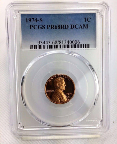 1974-S 1c DC (Proof) Lincoln Memorial Cent - PCGS PR68RD DCAM - Near Perfect