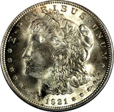 1921 $1 Morgan Silver Dollar  Philadelphia Mint - Brilliant Uncirculated 817-1DO