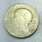 1932 Poland 5 Zlotych Silver Polish Coin Antique Foreign Polish Coin