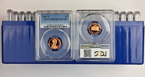 1987-S 1C DC (Proof) Lincoln Cent (LOT OF 20 COINS) all PCGS PR69RD DCAM