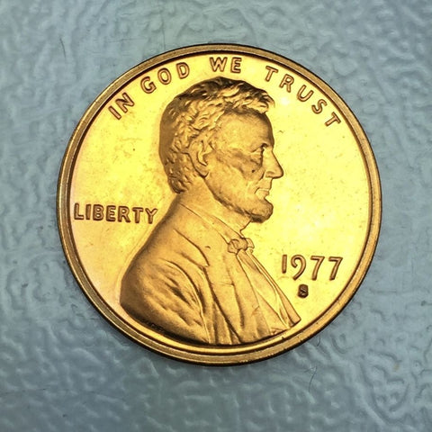 1977 S 1c Proof Lincoln Memorial Cent - San Francisco Presentation Strike Coin