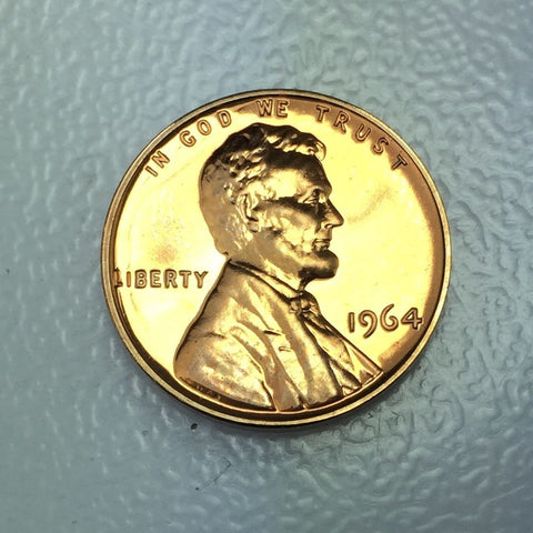 1964 1c Proof Lincoln Memorial Cent - Proof Presentation Strike Coin