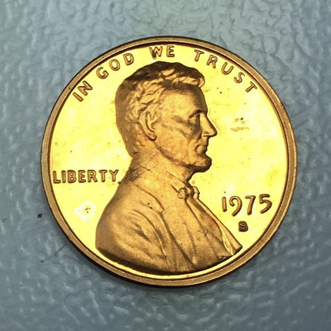 1975 S 1c Proof Lincoln Memorial Cent - San Francisco Presentation Strike Coin