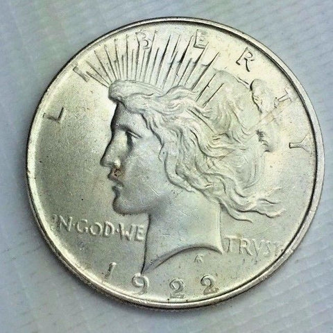 1922 $1 Peace Dollar - Philadelphia Mint Silver Liberty Coin - UNC JD115243-mm
