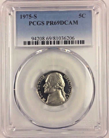 1975-S 5C DC (Proof) Jefferson Nickel PCGS PR69DCAM