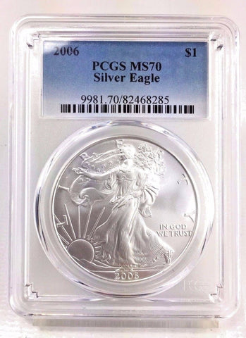 2006 ASE $1 PCGS MS70 - 1 oz. .999 American Silver Eagle - PERFECT / FLAWLESS