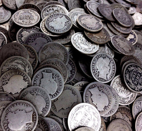 $1 Face 90% Silver Coins - Barber Dimes Only - Fresh Bulk