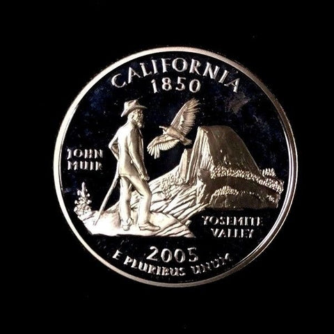 2005-S 25C California Silver DC (Proof) 50 States Quarter