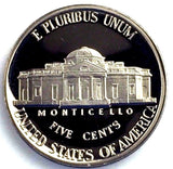 1986-S 5c Proof Jefferson Nickel - Monticello Yearly Presentation Strike Coin