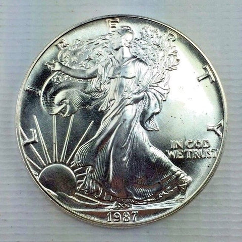 1987 $1 American Silver Eagle / ASE Bullion Coin - Brilliant Uncirculated 119-13