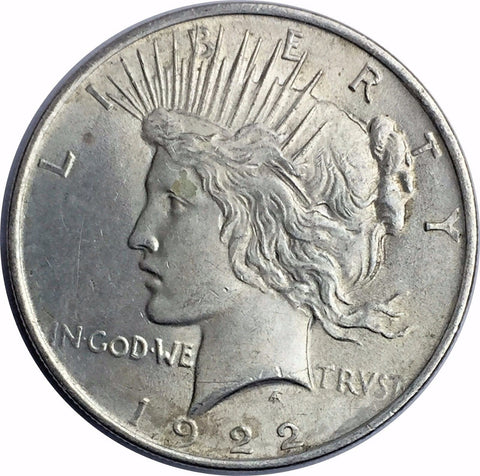 1922 Peace Silver Dollar - High Grade WWI Peace Commemorative Design 228-8DO