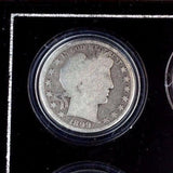 Silver Half Dollar 4 Coin Type Set in Wood Display Case - Four Types of 50c