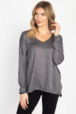 Tesoro Moda, Style 1731-18672 Sweater V-neck, Black