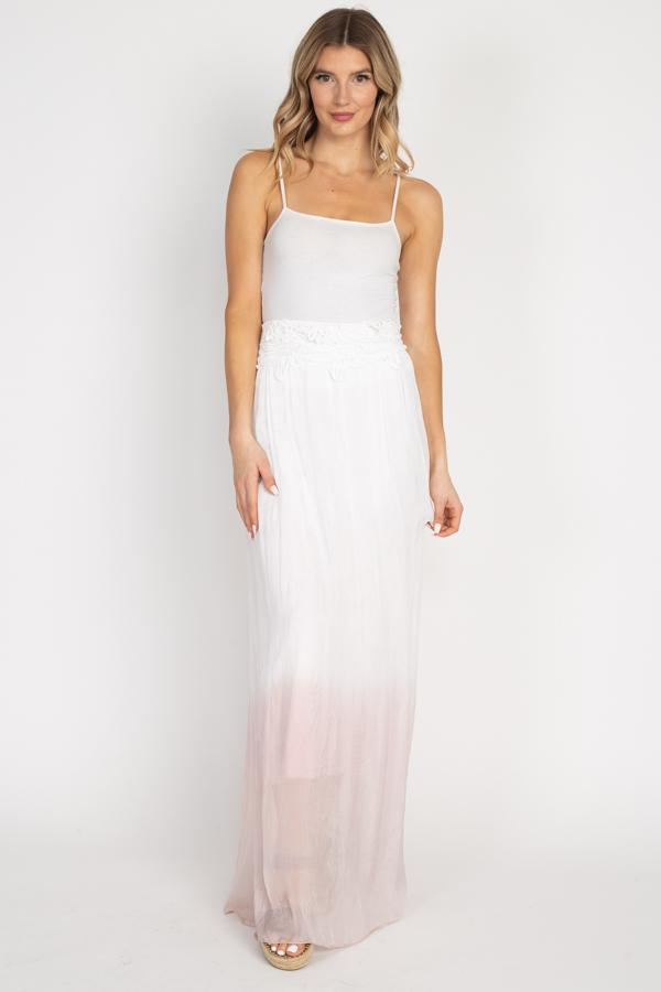 Tesoro Moda, Style 5850 Long Skirt, Blush