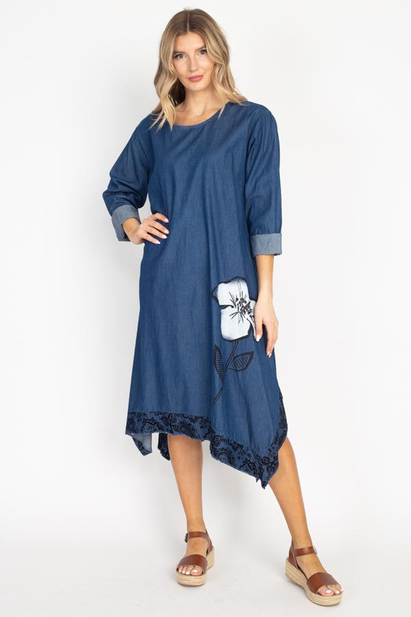 Tesoro Moda, Style 8567 Dress, Denim