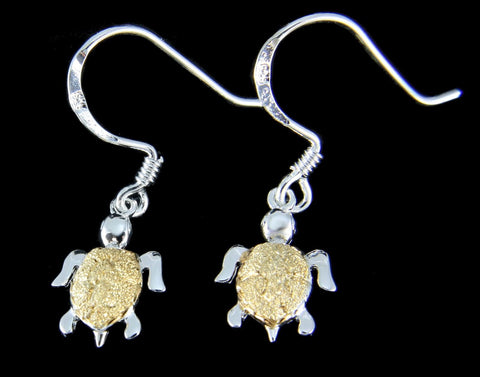 Sterling Silver Sea Turtle and Turtle Earrings