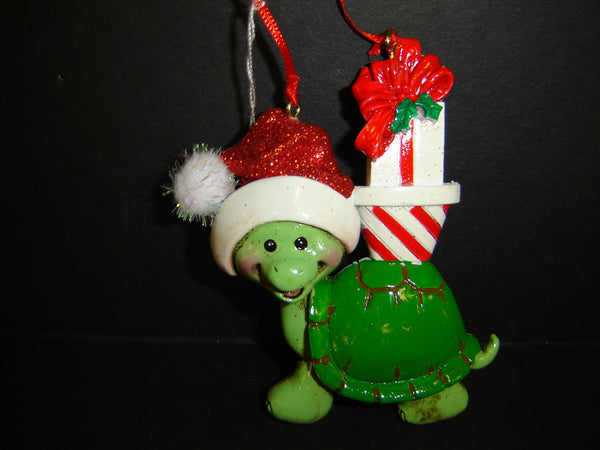 KURT ADLER FAMILY OF ONE, TWO, THREE, FOUR OR FIVE TURTLE CHRISTMAS HOLIDAY ORNAMENT (CO-16)