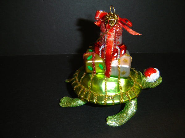 SEA TURTLE CARRY GIFTS CHRISTMAS ORNAMENT BY KURT ADLER (CO-2)