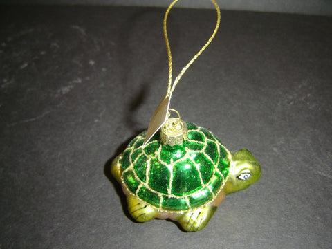 NEW GREEN TURTLE CHRISTMAS ORNAMENT (CO-5)