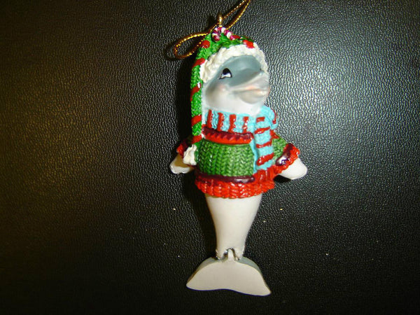 BRAND NEW DOLPHIN HOLIDAY CHRISTMAS ORNAMENT (CO-8)