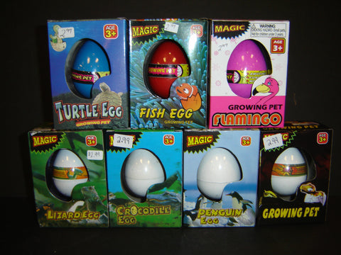 Magic Growing Pet Turtle, Dinosaur, Flamingo, Penguin, Fish, Lizard, or Crocodile Egg