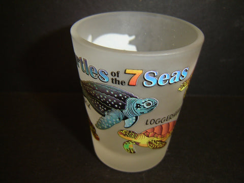 Sea Turtles of the 7 Seas Frosted shot glass (K-12)