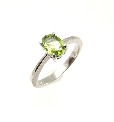 GENUINE PERIDOT SILVER 925 RHODIUM 5 - 9