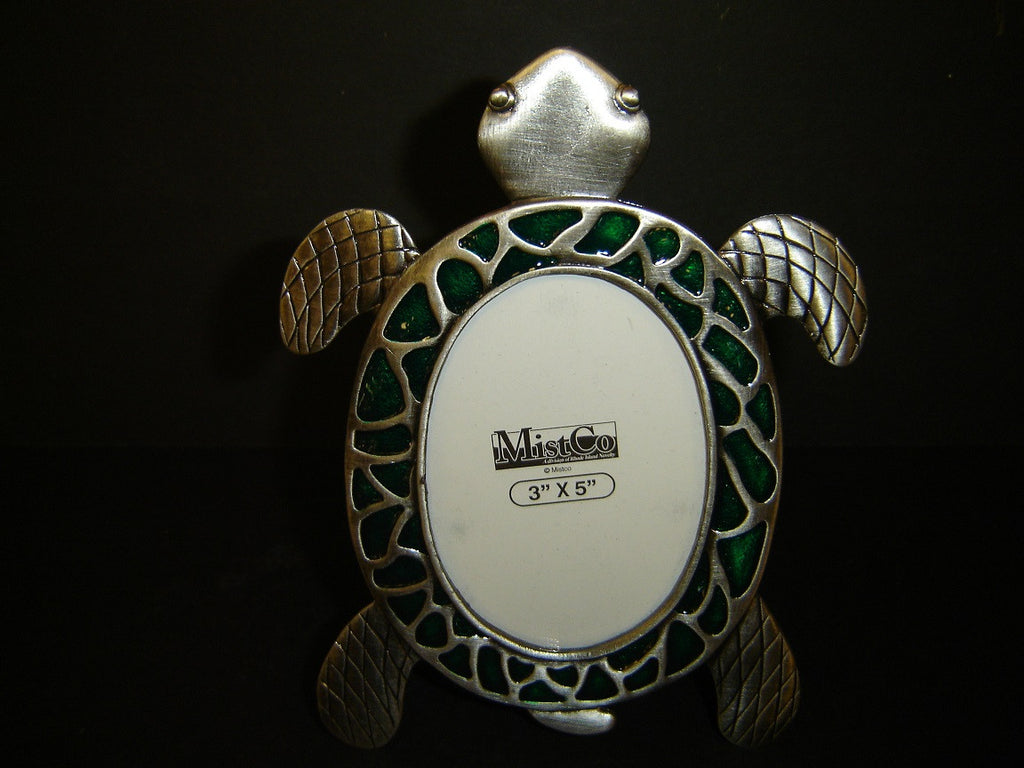 new pewter single turtle shaped picture frame u2013 the turtle factory