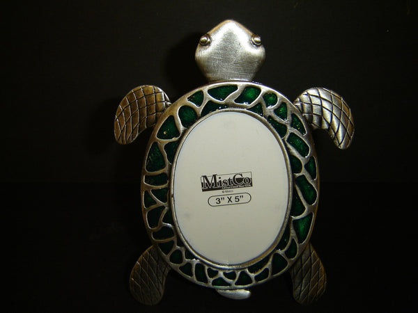 New Pewter Single Turtle Shaped Picture Frame (PF-5)