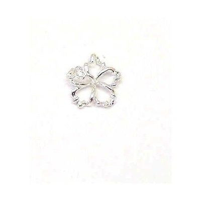 SILVER 925 HAWAIIAN OPEN FLOATING HIBISCUS FLOWER PENDANT 12MM (PP-2)