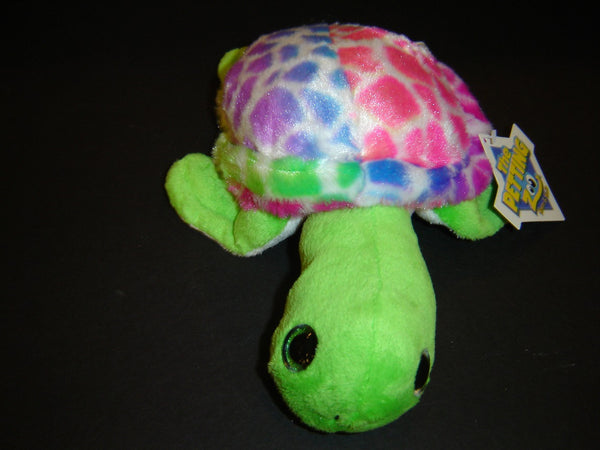 The Petting Zoo Plush Rainbow Sea Turtle Stuffed Animal (SA-23)