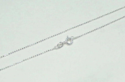 "1MM ITALIAN STERLING SILVER 925 DIAMOND CUT BALL BEAD CHAIN NECKLACE 16"" (SC-1)"