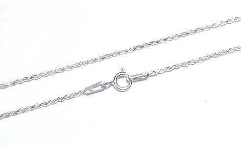 "ITALIAN SILVER 925 DIAMOND CUT ROPE CHAIN 1.2MM 20"" (SC-29)"