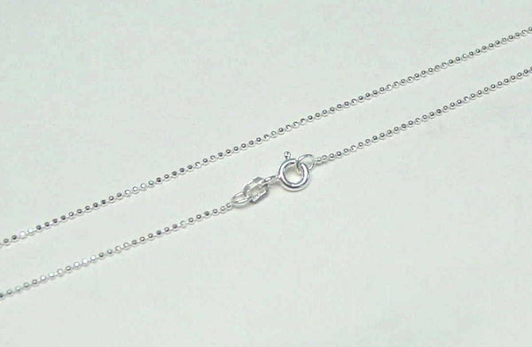 "1MM ITALIAN STERLING SILVER 925 DIAMOND CUT BALL BEAD CHAIN NECKLACE 18"" (SC-2)"