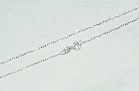 "1MM ITALIAN STERLING SILVER 925 DIAMOND CUT BALL BEAD CHAIN NECKLACE 20"" (SC-4)"