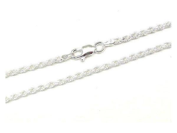 "ITALIAN SILVER 925 DIAMOND CUT ROPE CHAIN 2.5MM 20"" (SC-68)"