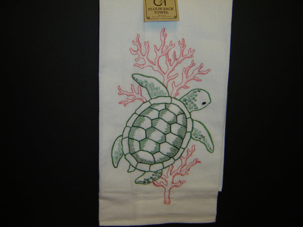 New Cotton C & F Nautical themed Kitchen Towel or Flour Sack Towel (Towel)