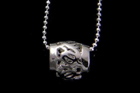 STERLING SILVER 925 HAWAIIAN HONU TURTLE BARREL TUBE PENDANT 8.5MM (TP-14)