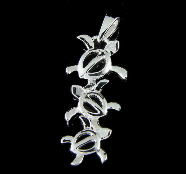 925 STERLING SILVER LARGE TO SMALL HAWAIIAN HONU TURTLE PENDANT (TP-45)
