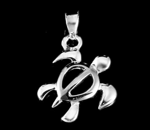 STERLING SILVER 925 HAWAIIAN HONU SEA TURTLE PENDANT CHARM SMALL (TP-8)