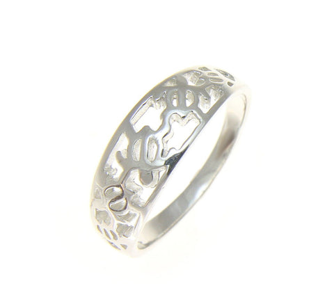 925 STERLING SILVER HAWAIIAN 5 CUT OUT HONU SEA TURTLE RING  (TR-7)