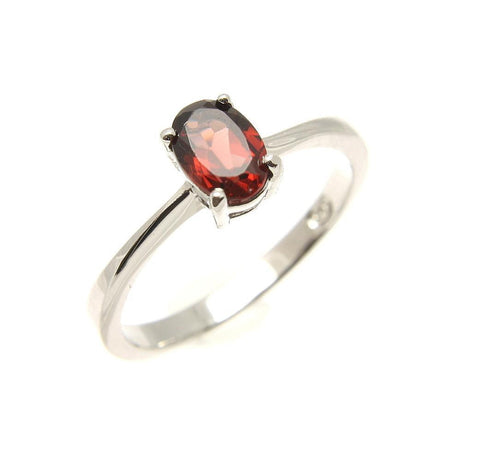 GENUINE GARNET RING SILVER 925 RHODIUM 5 - 9